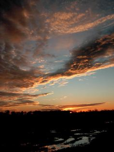 Sunset on Mississippi Delta at Indianola, Mississippi