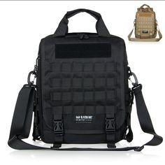Tactical black hawk outdoor travel laptop cordura cross body shoulder backpack molle woodland sustainment bag army durable 2014* $51.66