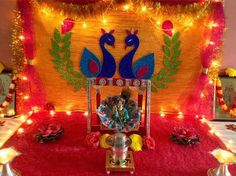 Get Janmashtami decoration ideas for your home. Learn new ways to make beautiful Krishna Janmashtami jhulas and rangoli designs for Janmashtami festival. Janamashtami Decoration Ideas, School Board Decoration, Ganpati Decoration At Home, Beautiful Decoration, Janmashtami Wishes, Janmashtami Celebration, Krishna Janmashtami, Happy Janmashtami, Janmashtami Images