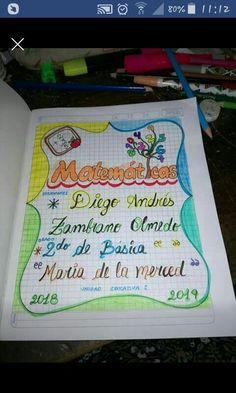 Bullet Journal Lettering Ideas, Design, Decorated Notebooks, Preschool Graduation, Page Borders, Science Notebook Cover