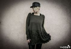 AREFU  Sweater Ombre Woodland Loose Grunge Mud by siskatank