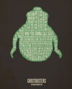 Ghostbusters ~ Movie Quotes Poster by Jerod Gibson Best Movie Posters, Minimal Movie Posters, Movie Poster Art, Quote Posters, Pulp Fiction, Ghostbusters Quotes, Ghostbusters Movie, Poster Minimalista, Caricatures