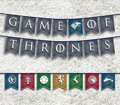 Game of Thrones Banner  PRINTABLE Party Supplies  GoT by ellums