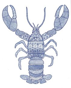 Simply Pinteresting: Lobster Doodle Art - Zen Tangle