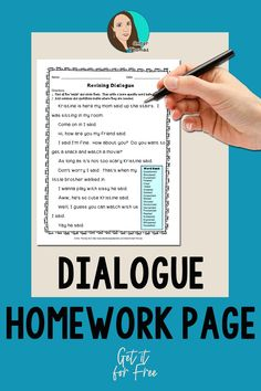 Click to download this free dialogue worksheet.  Your students will practice analyzing a variety of dialogue terms on this printable.  Transferring these skills to their own writing will be easy.  #4thgrade #LanguageArts Writing Lessons, Writing Resources, Writing Skills, Classroom Job Application, Classroom Jobs, Mentor Sentences, Mentor Texts, Expository Writing, Narrative Writing
