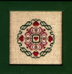 Free Patterns « Save the Stitches! Christmas Hearts. Simple and pretty Christmas design by Just Nan.