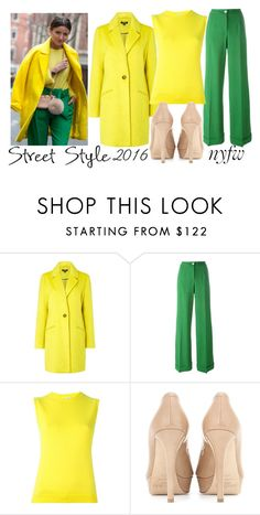 """""""nyfw: street style"""" by j-n-a ❤ liked on Polyvore featuring Therapy, Dolce&Gabbana, Oscar de la Renta, Jimmy Choo, StreetStyle and NYFW"""