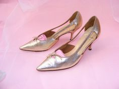Vintage Gold sixties stiletto shoes by magpieretro on Etsy