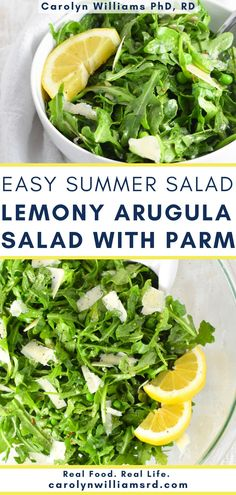 Parmesan and fresh peas are the perfect complement to the sharp lemon dressing. To dress it up a little more, toss in 1 cup of trimmed, slightly blanched fresh asparagus pieces. Real Food Recipes, Cooking Recipes, Easy Summer Salads, Fresh Asparagus, Arugula Salad, Anti Inflammatory Recipes, Nutritious Meals, Quick Meals, Lunch Ideas