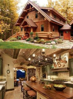 Casas san jorge – – Famous Last Words Log Cabin Living, Log Cabin Homes, Log Cabins, Casas Country, Log Home Decorating, Tiny House Cabin, Timber House, Cabins And Cottages, Cabins In The Woods