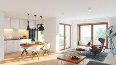 Kitchen & living room visualization / Wizualizacja salonu z aneksem kuchennym