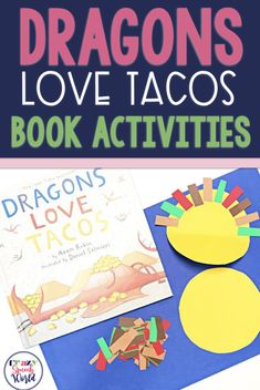 Art therapy activities for toddlers Dragons Love Tacos Book Activities for speech and language therapy Preschool Speech Therapy, Art Therapy Activities, Preschool Books, Speech Therapy Activities, Language Activities, Literacy Activities, Toddler Activities, Preschool Activities, Play Therapy