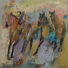 creese:  Michael Creese, Wild Horses Abstract (2014), oil on canvas.