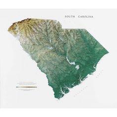 South Carolina Wall Map