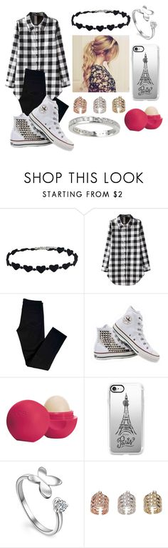 """Untitled #724"" by lucy-smith-2 ❤ liked on Polyvore featuring J Brand, Converse, Eos and Casetify"
