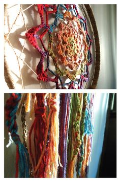 Crocheted dreamcatcher