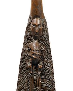 Important and Rare Maori Paddle, New Zealandby the master carver Anaha Te Rahui Polynesian People, Maori Art, Native Style, Paddles, Ancient Jewelry, Ocean Art, Ancient History, Deities, New Zealand