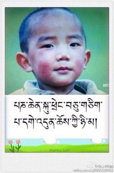 11th Panchen Rinpoche   (Previously unseen photo)