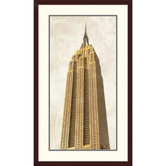 Global Gallery 'Gilded Skyscraper II' by Joannoo Framed Graphic Art Size:
