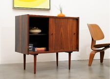 1960s Danish Modern ROSEWOOD Compact Credenza Mid Century Eames Era