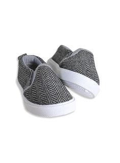 Pumpkin Patch - footwear - baby boys herringbone slip-ons - W3FW10008 - steel grey - 1 to 4