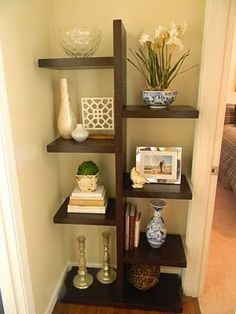 Inspiration - New Bookshelves great in a bedroom corner with comfy chair