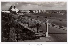 Benghazi, Libya - the 'Lungomare' (sea-walk) built by the Italians. - Stock Image