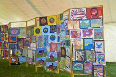KidsArt Gallery, Driftless Art Festival, Soldier's Grove, WI