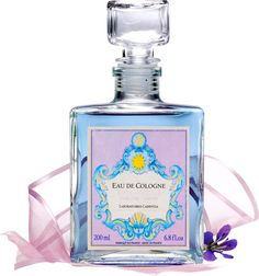 French Violet Eau de Cologne     A bouquet of violet, wild rose, and iris oils, this lovely French violet cologne is made by the esteemed Provence perfumers who make our popular Lavender eau de cologne. Splash it on any time of day for a quick pick-me-up. Presented in a glass vintage-style decanter. 6.8 oz. bottle.   ~  I just like the bottle :)