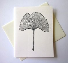 Ginkgo Leaf Note Cards Stationery Set of 10 Cards by PetitePaperie, $10.00