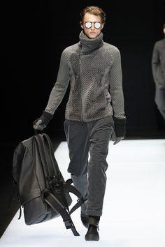 Emporio Armani Fall 2016 Menswear Fashion Show. The coat!!!