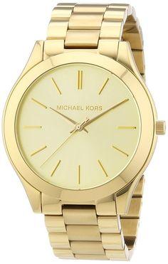 Damen-Armbanduhr Slim Runway Analog Quarz Edelstahl beschichtet MK3179: Amazon.de: Uhren