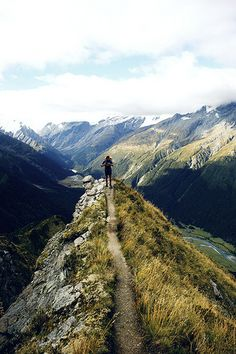 Mount Aspiring. National Park in New Zealand. On the Cascade Saddle Route.