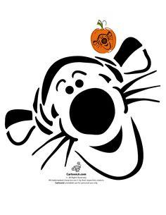 Classic Disney Pumpkin Stencils Disney's Tigger Pumpkin Pattern – Cartoon Jr.