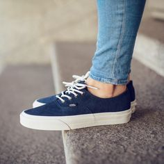 Vans Authentic DECON (Scotchgard) Blue Graphite available now @titoloshop