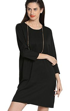 Material: Synthetic Colour: Black Sleeve Type: 3/4 Sleeve