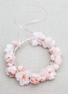 Silk Flower crown from the 'Meadowsweet' by Blackbirds Pearl – A Sublime New Bridal Accessories Collection Wedding Headband, Bridal Tiara, Bridal Headpieces, Pearl Bridal, Flowers In Hair, Silk Flowers, Fabric Flowers, Floral Hair, Floral Crown