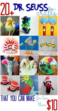 Dr. Seuss Crafts (that you can make for less than $10) - All Cheap Crafts