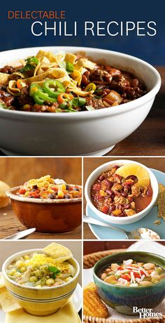 Bring warmth and flavor home this weekend with our delicious chili recipes: http://www.bhg.com/recipes/chili/chili-recipes/?socsrc=bhgpin100513chilirecipes