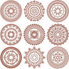 Mehndi Circles (Vector) Royalty Free Stock Vector Art Illustration