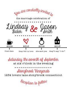 Printable Wedding Invitation Timeline By OhDarlingPaper On Etsy, $30.00