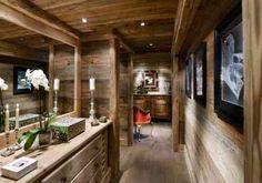 petites touches Déco discrètes pour une entrée chaleureuse   --- Décoration d'intérieur chalet montagne et bois