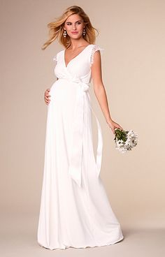 Rosa Maternity Wedding Gown Long Ivory by Tiffany Rose