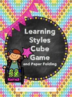 Learning Styles Cube Game- Savvy School Counselor- TpT