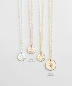 Thoughtful Jewelry Gift for Her: Wildflowers, Special Edition Floral Bouquet Necklace in Gold, Silver or Rose Gold - Flowers Dainty Jewelry, Cute Jewelry, Jewelry Gifts, Silver Jewelry, Jewelry Accessories, Silver Ring, Silver Earrings, Women's Jewelry, Gold Jewellery