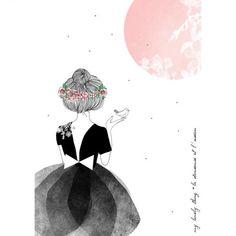 "Carte "" My great bird pink"""