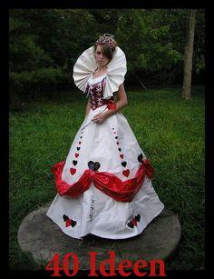 http://de.lady-vishenka.com/costume-queen-hearts-halloween/  14. Königin der Herzen — Halloween / Karneval Kostüm für Mädchen