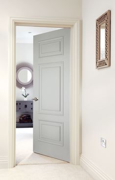 Smooth (Solid) Beautiful traditional white doors perfect for classic homes. House Design, Fire Doors, White Internal Doors, Home, 6 Panel Doors, Cottage Door, Doors Interior, Solid Doors, Wood Doors Interior