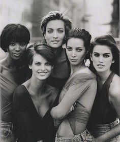 Naomi Campbell.. Linda Evangelista.. Tatjana Patitz.. Christy Turlington.. Cindy Crawford..