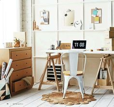 Sneak Peek | Real Living   Karton / cardboard dresser! Trestle desk...
